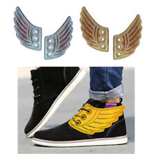 2 Pairs Men's Shoes Angel Wings Charm Wings for Sneakers Shoes Decorations