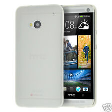 TPU Case HTC One M7 Case Cover Matte Clear Transparent Dust Protection Film