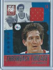 2013-14 Panini Elite Jeff Hornacek Throwback Threads GU JERSEY RELIC 76ERS