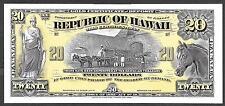 1895 République De Hawaii - 1895 Or Certificat - Abnc Preuve Imprimé