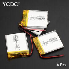 3.7V 500mAh Li-Po Rechargeable Battery 503035 For Bluetooth Headset MP3 4Pcs DA