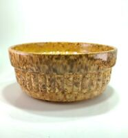 Beautiful Haeger Art Pottery Planter, Ribbed Gold Speckled Glaze