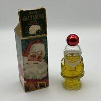 Vintage 1960s Avon Jolly Santa Topaz Cologne Figural Decanter Bottle 90%full