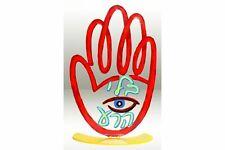 David Gerstein Art Evil Eye Hamsa Metal Sculpture