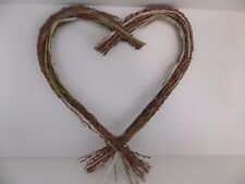 tshabby chic/ rustic willowr/birch branch heart  hanging decoration