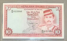 1983 Brunei 1983 $10.00 Paper Note.