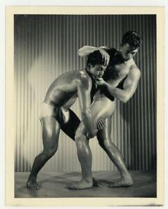Bruce Of LA 1950 Gay Physique Photo Greco Wrestling Beefcake Nude Men Buff Q7318