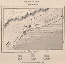 MOGADISCIO. SOMALIA 1885 VECCHIO ANTICO VINTAGE MAPPA piano Grafico