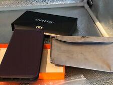 SHIELDON Leather Case for iPhone XS Max - Purple - Leder Hülle / Etui