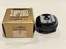 Black Nikon F or F2 Flash Unit Coupler AS-1