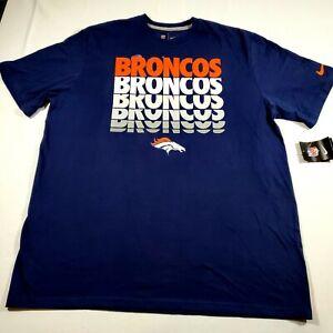 Nike Denver Broncos Orange Dri-Fit Shirt Men's Size: XXL NWT Standard Fit Damage