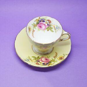 Foley EB Bone China Pink Rose Demitasse Tea Coffee Cup & Saucer Vintage England