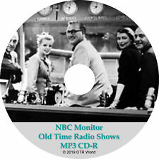 NBC Monitor Old Time Radio Shows 3 Episodes On MP3 CD-R OTR OTRS