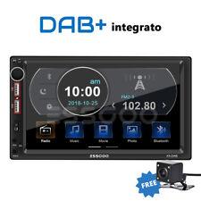 "2DIN Autoradio 7"" DAB+ RDS AM FM MP5 Lettore Bluetooth 2USB SD AUX IN Telecamera"