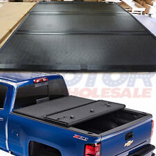 New Hard Folding Tonneau Cover For GMC Sierra Chevy Silverado 1500 14-18 5.8 FT