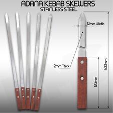 6x Kebab Skewers Stainless Steel Adana Skewer Lamb Koobideh Beef Shish Kebab BBQ