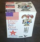 Vintage JULY 4TH PATRIOTIC LIBERTY EAGLE BELL WIND CHIMES - HTF! RELIANCE