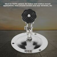 Wall Mount Bracket Stand For Security Surveillance Camera Stainless Steel Black