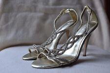 Aldo Women's Silver Strappy Slingback Sandals-Size 8 EU38