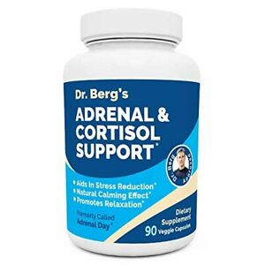 Dr. Berg's Adrenal & Cortisol Support Supplement - Natural Stress & Anxiety Re