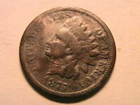 1875 Good Indian Head Bronze Cent Original Toned One Small Penny US Coin
