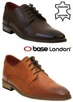 Mens Base London Leather Formal Oxford Pointed Toe Smart Lace-Up Shoes Size 6-12