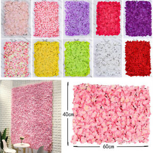 Artificial Rose Hydrangea Flower Wall Background for Wedding Party Photo Props