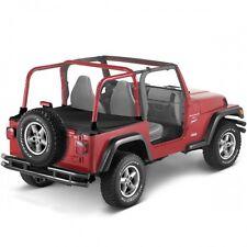 Jeep Wrangler Tj Duster Deck Cover Trunk Boot Cover Black Denim Bestop 96-02