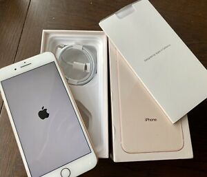 APPLE IPHONE 8 PLUS Rose Gold Excellent Condition w Box/Lead 64GB