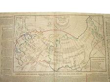 Carta Geografica Impero Russo Confini Montagne Fiumi Laghi Popolo Miniere 1826
