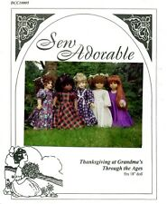Sew Adorable Doll Clothes Pattern, fits American Girl, Thanksgiving at Grandma's