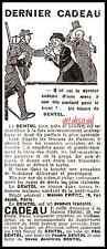 """Publicité DENTOL """" DERNIER CADEAU """" POILU MILITATRIA WWI Guerre 14-18  ad 1914"""