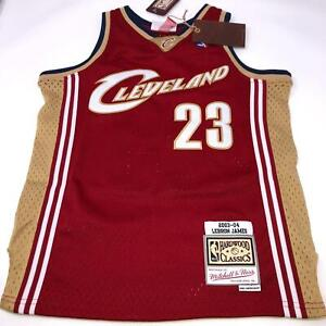 Lebron James #23 Rookie Mitchell & Ness Hardwood Classic Jersey Youth Small