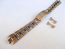 bracciale oyster orologi acciaio compatibile rolex tudor ansa curva 17 mm
