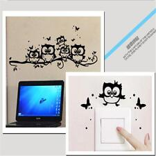 DIY Removable Vinyl Decal Owl Cartoon Wall Sticker Nursery Room Home Decor KI