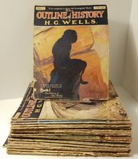 The Outline of History Magazines 1-24 by H G Wells (Vintage c.1919)