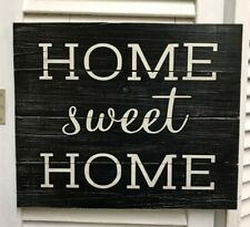"""""""Home sweet Home"""" Black & White Distressed Wooden Sign - 41218"""