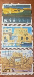 GM107 MALTA 3 USED STAMPS