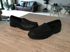 Tommy Hilfiger Mens Black Leather Loafers Mocassin Shoes Size 11M excellent cond
