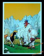 YAKARI indien cheval petit tonnerre bison blanc AFFICHE chambre poster enfant