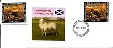 Transcamster Bog, End of World War I, mint stamp + first day cover