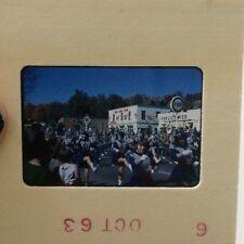 Vtg Gas Station Slide 1963 Parade Mid Century American Amateur Photo Vtg 60s