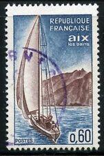 STAMP / TIMBRE FRANCE OBLITERE N° 1437 AIX LES BAINS / BATEAU / VOILIER