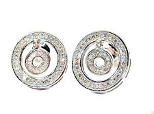 9CT HALLMARKED WHITE GOLD 0.30 CTS G COLOUR SI1 DIAMOND 12MM ROUND STUD EARRINGS