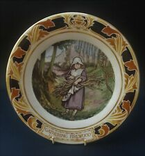 PRETTY ROYAL DOULTON OLD CHARING CROSS HOSPITAL PLATE - GATHERING FIREWOOD