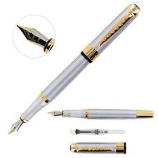 Classico Stilo/Penna Calligrafica Jinhao 250 Acciaio Inox Color oro Orlo - Medio