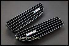 MATTE BLACK SIDE FENDER VENT GRILLE GRILL KIT FOR BMW E46 M3 COUPE 2001-2006