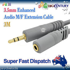 *JH* 3M Gold Plated 3.5mm M/F Enhanced Earphones Audio Extension Cable Lead Cord