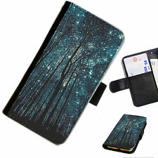Bg112 Wood 2 Spots Leather Wallet/flip Case Cover for Mobile Phone Samsung Galaxy J1 (2016)