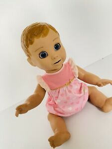 """LuvaBella Interactive Baby Doll Talks Laughs & Arms Mouth & Eyes Move 18"""" Luva"""